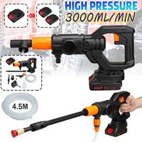 88V Cordless High Pressure Car Water Gun Car Washer Spray Car Washer Gun Cordless Water Jet Pressure Washer With 2 Battery