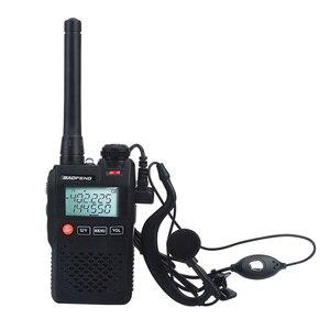 Baofeng Talkie Walkie UV-3R mini pocket VOX two way radio Dual Band dual display 2W 99CH FM radio with handsfree