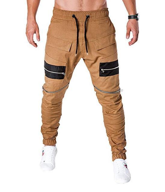 MARKA KRALI-Pantalones para Hombre, ropa informal estilo Hip Hop, Cargo, Pantalones bombachos, Steampunk, para correr 4