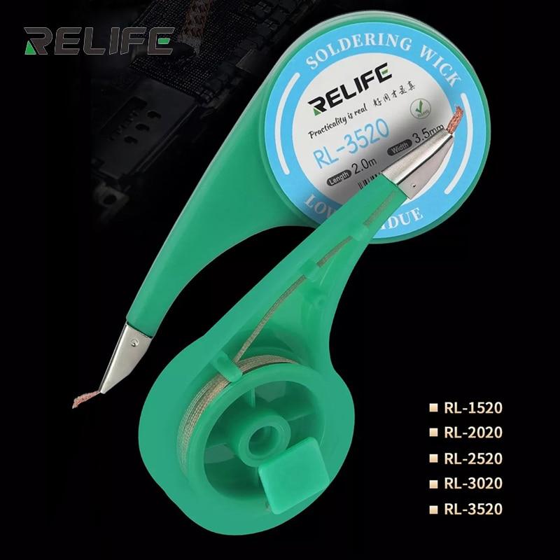 Dessoudage tresse soudure dissolvant mèche fil 1.5mm 2mm 2.5mm 3mm 3.5mm largeur 2.0M longueur BGA soudure réparation outil