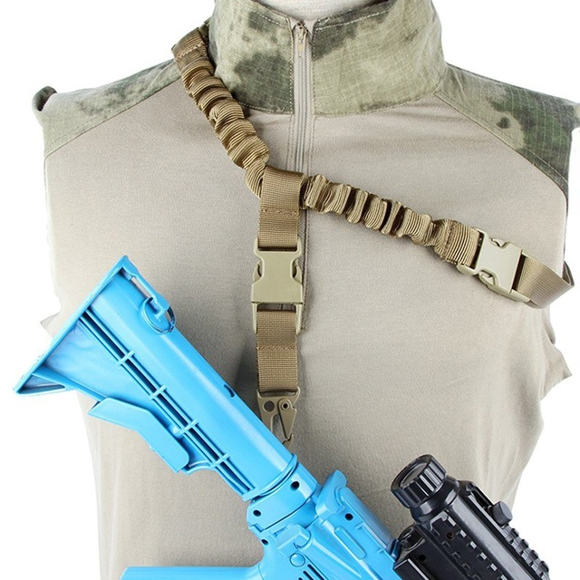 Tactical Single Point Rifle Sling Shoulder Strap Nylon Adjustable Airsoft Paintball Military Gun Strap Army Hunting Accessories 6