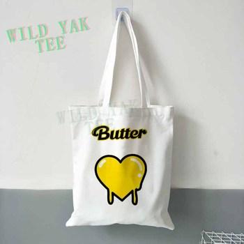 Bangtan Boys BTS Butter New Ablum Canvas Bag Heart