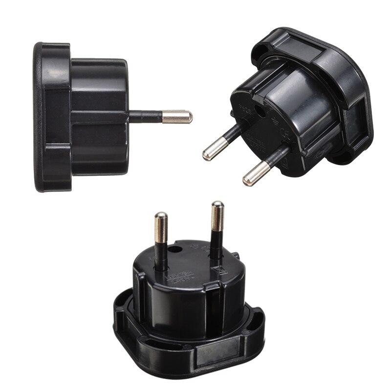 Новинка 1 шт. адаптеры для путешествий из Великобритании в ЕС черные высококачественные евро штепсельные вилки переменного тока зарядное у...
