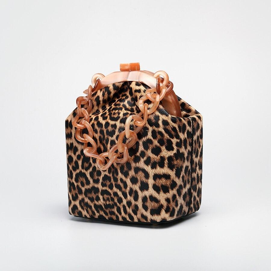 Image 5 - Women Box Bag Handbag Luxury Designer 2019 Acrylic Thick Chain  Clip Bucket Bags Women Famous Brands Purses And Handbag For  GirlsTop-Handle Bags