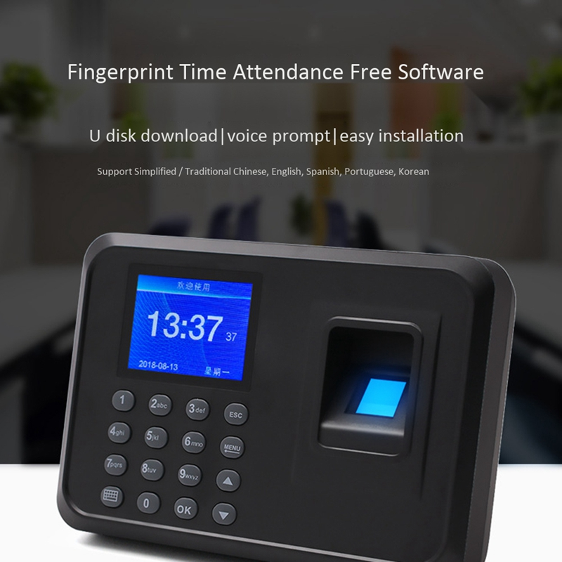 Fingerprint Attendance Machine Biometric Intelligent Fingerprint Time Attendance Machine Time Recorder Machine EU Plug