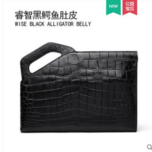 gete 2019 new Mens handbags  Large capacity hand bag crocodile belly clutch grasp wrist leather envelope