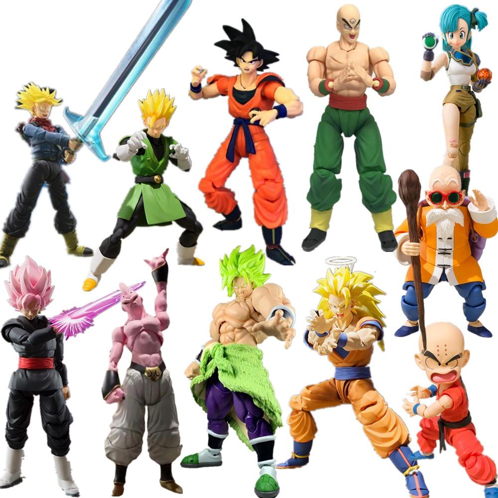 Dragon Ball Z Goku Broly Trunks Majin Buu Movable Action Figures Toy Anime Dragon Ball Super Vegeta Gohan SSJ Figurine Toys