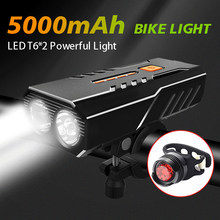 5000 mah luz da bicicleta frente conjunto farol lanterna para bicicleta lanterna recarregável lâmpada running led usb mtb luzes lanterna traseira