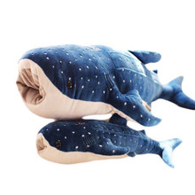 55-125 CM Soft Blue Whale Shark Dolphin Stuffed Plush Toys Big Size Plush Pillow Cushion Marine Animal Toys Gift For Children(China)