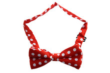 Red Bottom with White Large Polka Dot Pattern Bow Tie For Men(China)