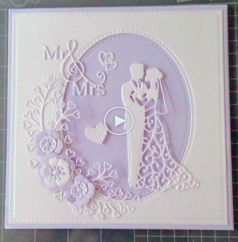 Love Wedding Cards Metal Cutting Dies Stencil Scrapbooking Template Photo Album Cards Paper Embossing Craft DIY Die Cut Dies