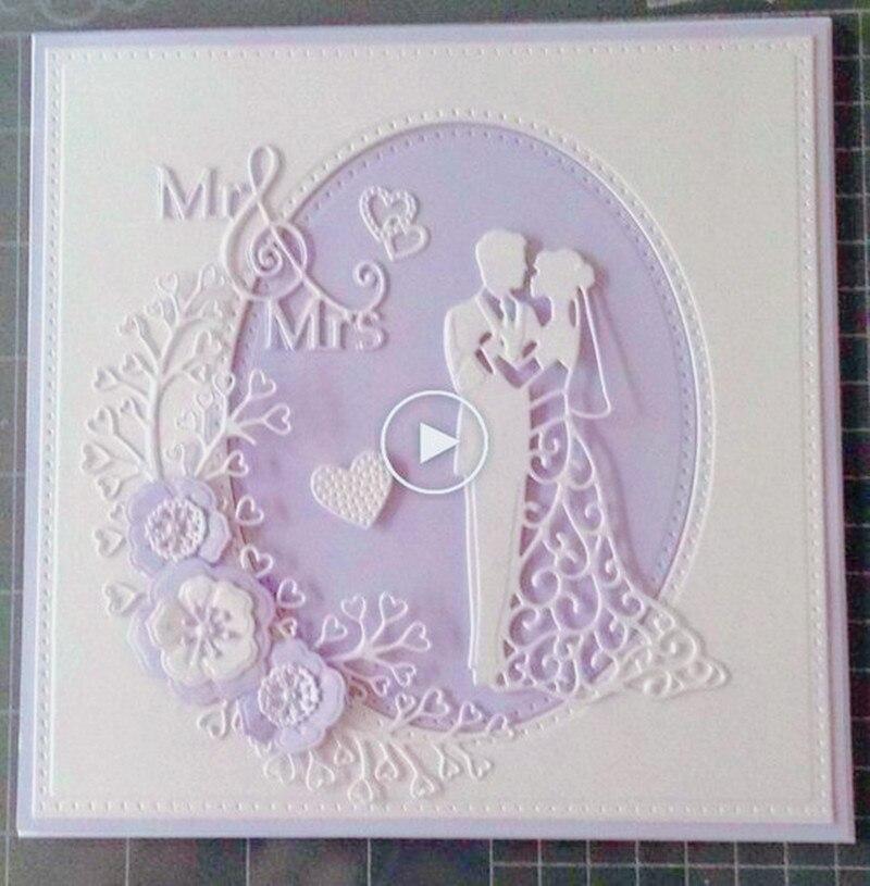 Love Wedding Cards Metal Cutting Dies Stencil Scrapbooking Template Photo Album Cards Paper Embossing Craft DIY Die Cut Dies