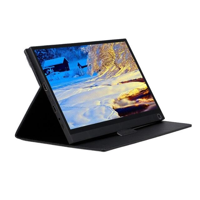 Przenośny Monitor 12.5 Monitor LED HD 1080P ekran rozszerzający do przełącznika/PS4/PC/laptopa (z ekranem dotykowym/wtyczką amerykańską baterii)