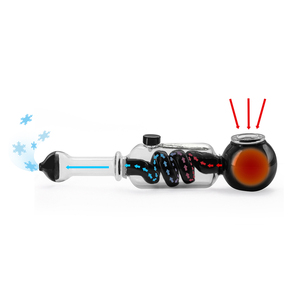 Image 4 - dry herb vaporizer Freeze Pipe Glass vape vaporizer herbal chamber cooled Filtration smoke Cooling Pipe