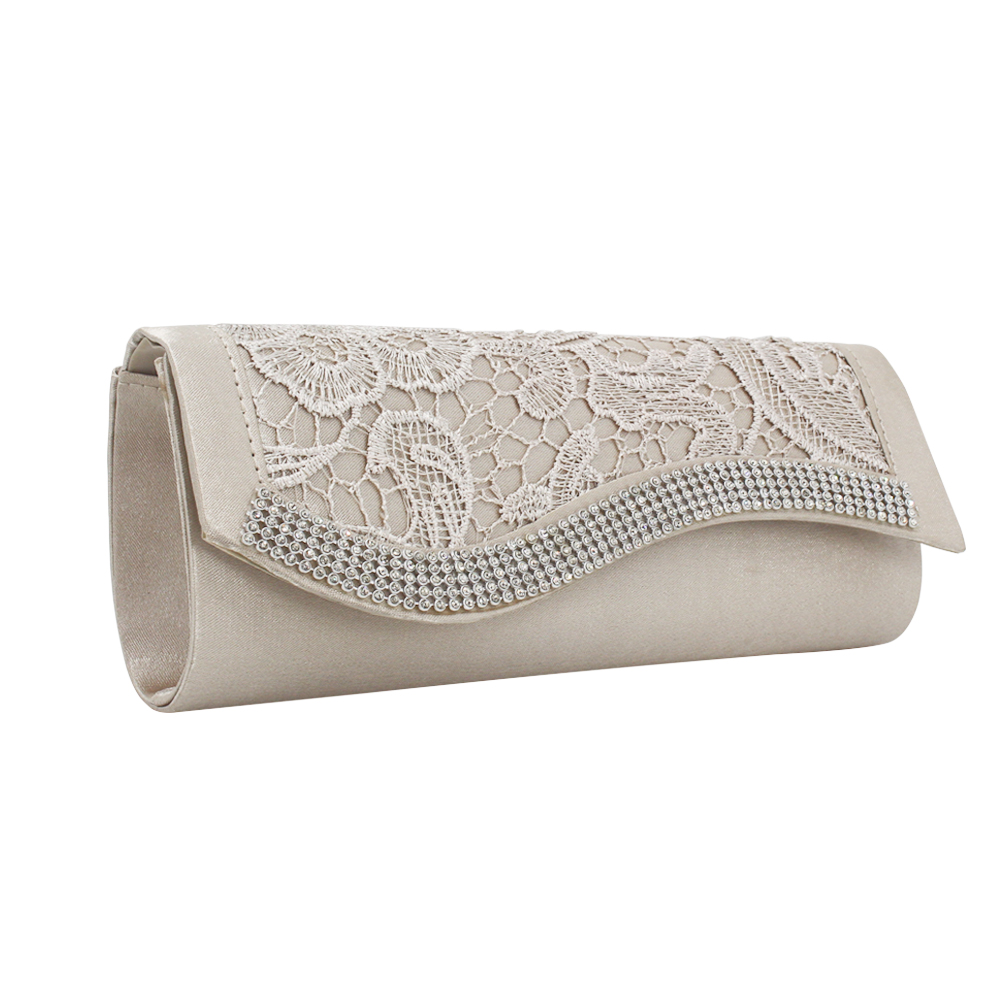 New Fashion Lace Clutch Evening Bag Graceful Diamante Diamond Crystal Clutch Bags For Women Lady 2019