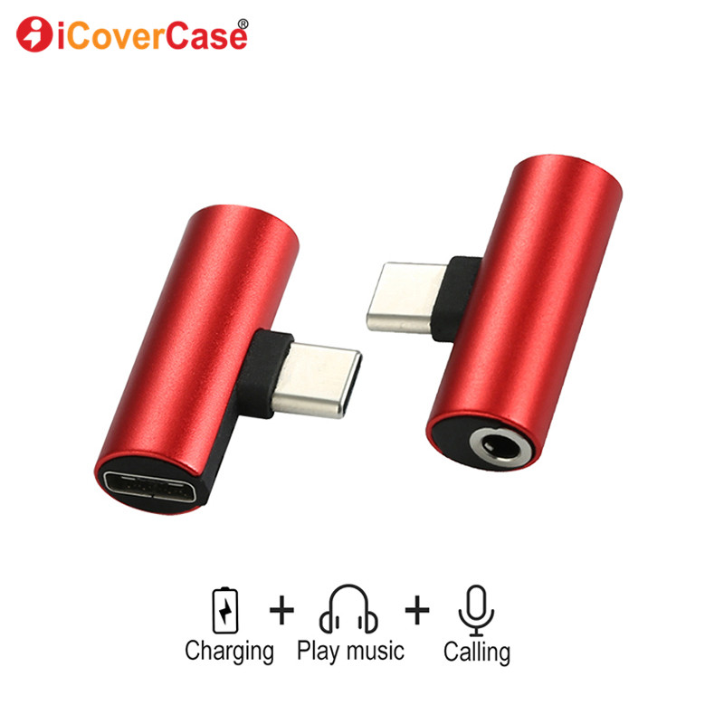 For Huawei nova 5T 5 Pro Dual Headphone 3.5mm Jack Type c 2 In 1 Audio Charger For Honor 20 Pro Magic 2 3D Case Audio Chraging(China)