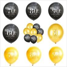 5 pièces/lot ballon d'anniversaire écriture numéro 16 18 30 40 50 60 70 80 90 ans fête d'anniversaire ballon numérique Latex Globos
