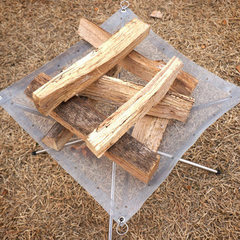في الهواء الطلق المحمولة النار حرق الرف للطي شواء الصلبة الوقود الرف الفولاذ المقاوم للصدأ شبكة تسخين سريع موقد فحم الخشب