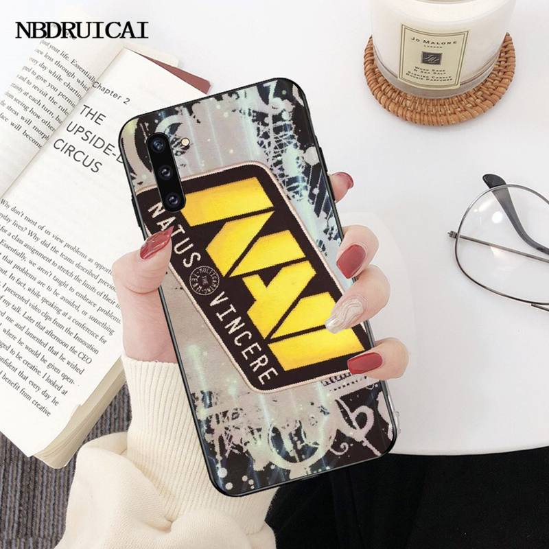 PENGHUWAN Natus Vincere navi Cover Black Soft Shell Phone Case for Samsung Note 3 4 5 7 8 9 10 pro M10 20 30