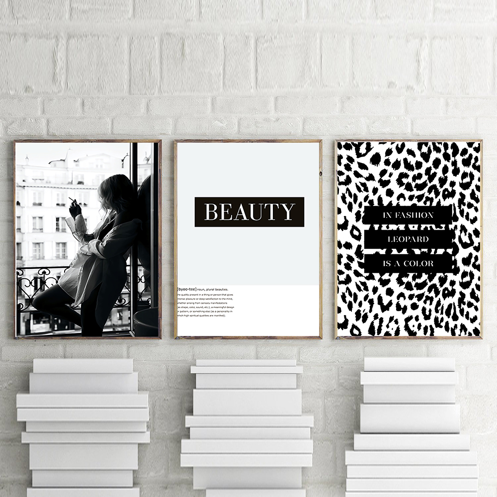 Smoking Woman Poster Canvas Print Wall Art Fashion Posters And Prints Beauty Quote Wall Pictures For Living Room Home Decor