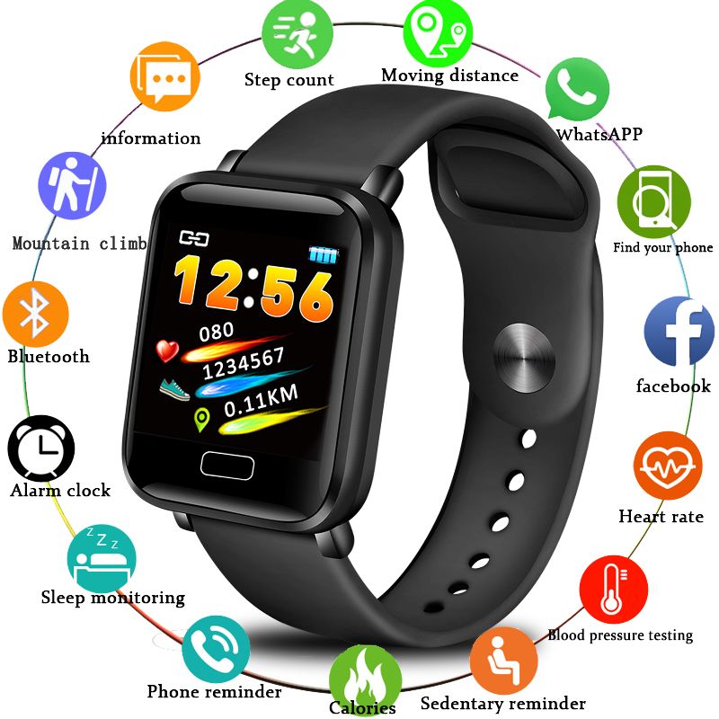 LIGE Smart Watch Men Women Sport Watch Waterproof Fitness Tracker Heart Rate Blood Pressure Monitor For Android Ios Smartwatch