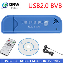 Mini Portable TV stick 820T2 Digital USB 2.0 TV Stick DVB-T + DAB + FM RTL2832U Support SDR Tuner Receiver TV accessories