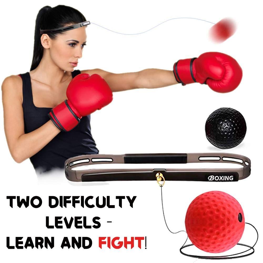 Boxing Reflex Ball On String Headband Set Punching Fight Speed Agility Reaction Balls Hand Eye Training Equipment For Kids Adult