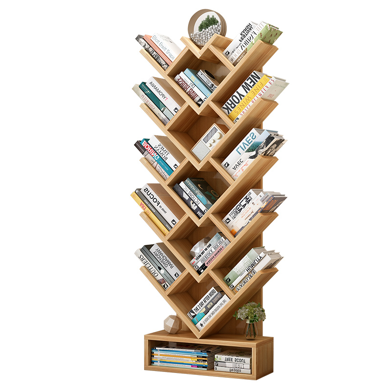 Tree-shaped Bookshelf Rack Simple Living Room Storage Rack Bedroom Children's Bookshelf Landing Student Bookshelf