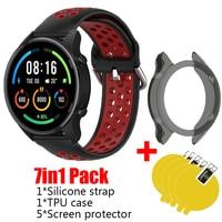 Cinturino 7in1 per Xiaomi Mi Smart Watch colore cinturino sportivo cinturino in silicone cinturino XMWTCL02 custodia in TPU protezione dello schermo flim