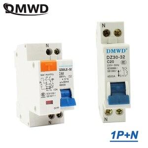 Mini Circuit breaker DPN DZ30-32 DZ30LE-32 1P+N 10A 16A 20A 25A 32A 220V 230V 50HZ 60HZ Breaker DIN RAIL RCB RCCB(China)
