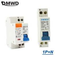 Mini interruptor de circuito DPN DZ30-32 DZ30LE-32 1P + N 10A 16A 20A 25A 32A 220V 230V 50HZ 60HZ interruptor de carril DIN RCB RCCB