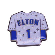 Los Angeles Dodgers #1 maillot Elton John paillettes émail épingle iconique décor(China)