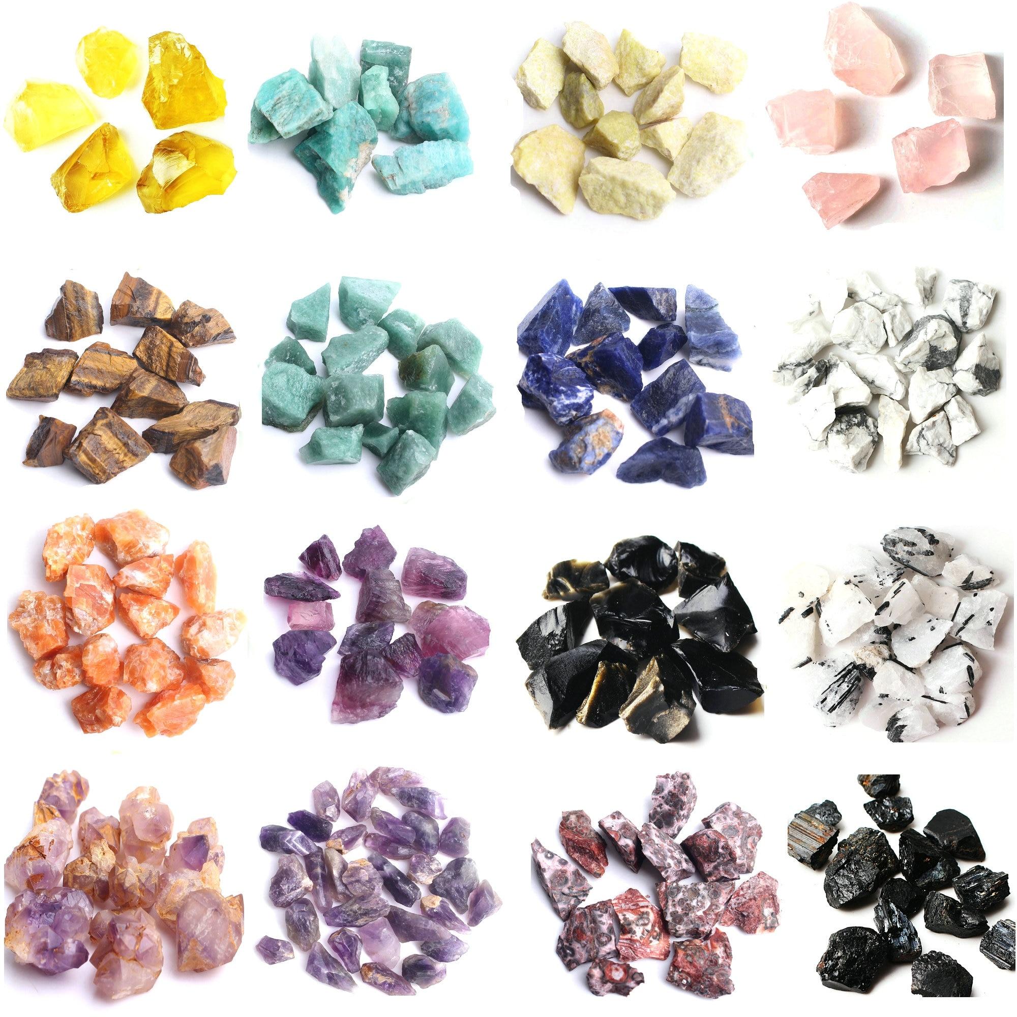 Pedra de cristal natural para cicatrizes, pedra científica de pedra natural de cristal 30-50g, espécie colorida de quartzo para decoração, 1 saco reiki cura