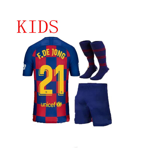 newest 6d4e8 df078 US $18.88 |2019 2020 Selling child suit socks Barcaed Messi Soccer Jerseys  19 20 kids kit socks Home away 3rd F.DE JONG GRIEZMANN Football on ...