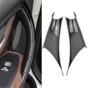 Image 2 - 자동차 스타일링 카본 스타일 인테리어 도어 핸들 BMW 3 4 시리즈 F30 F35 2012 2013 2014 2015 2016 용 보호 프레임 커버