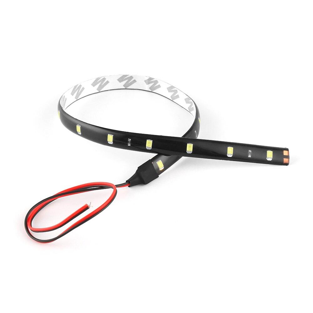 12V 30 см 15SMD DRL Светодиодный дневной светильник автомобиля Светодиодные ленты светильник Водонепроницаемый Авто декоративный гибкий светодиодный светильник полосы