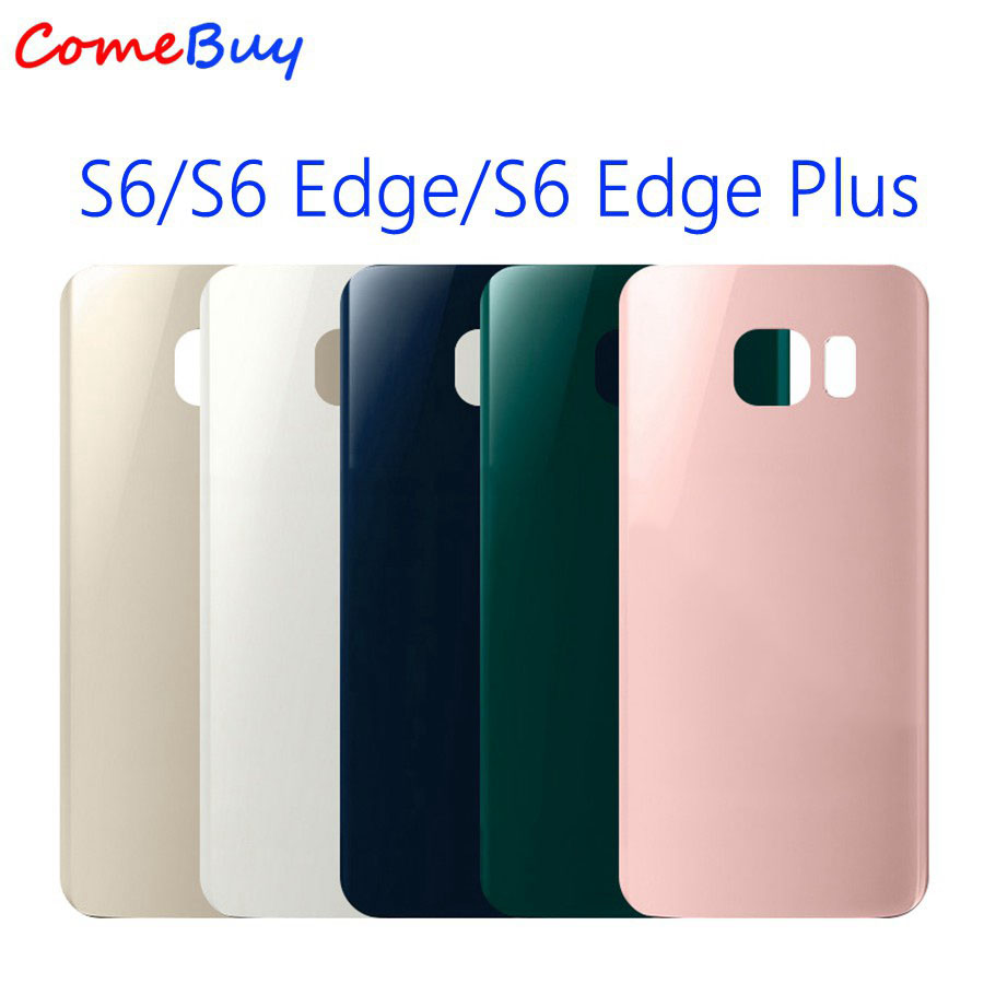 Back Glass Panel For SAMSUNG Galaxy S6 Edge Battery Cover Rear Door Housing Case For SAMSUNG S6 Edge Plus Battery Back Cover image
