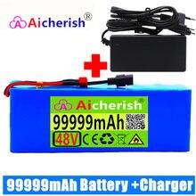 Batterie 13S3P lithium-ion 48v 99ah 1000w pour vélo électrique 54.6v, avec BMS intégré et chargeur inclus