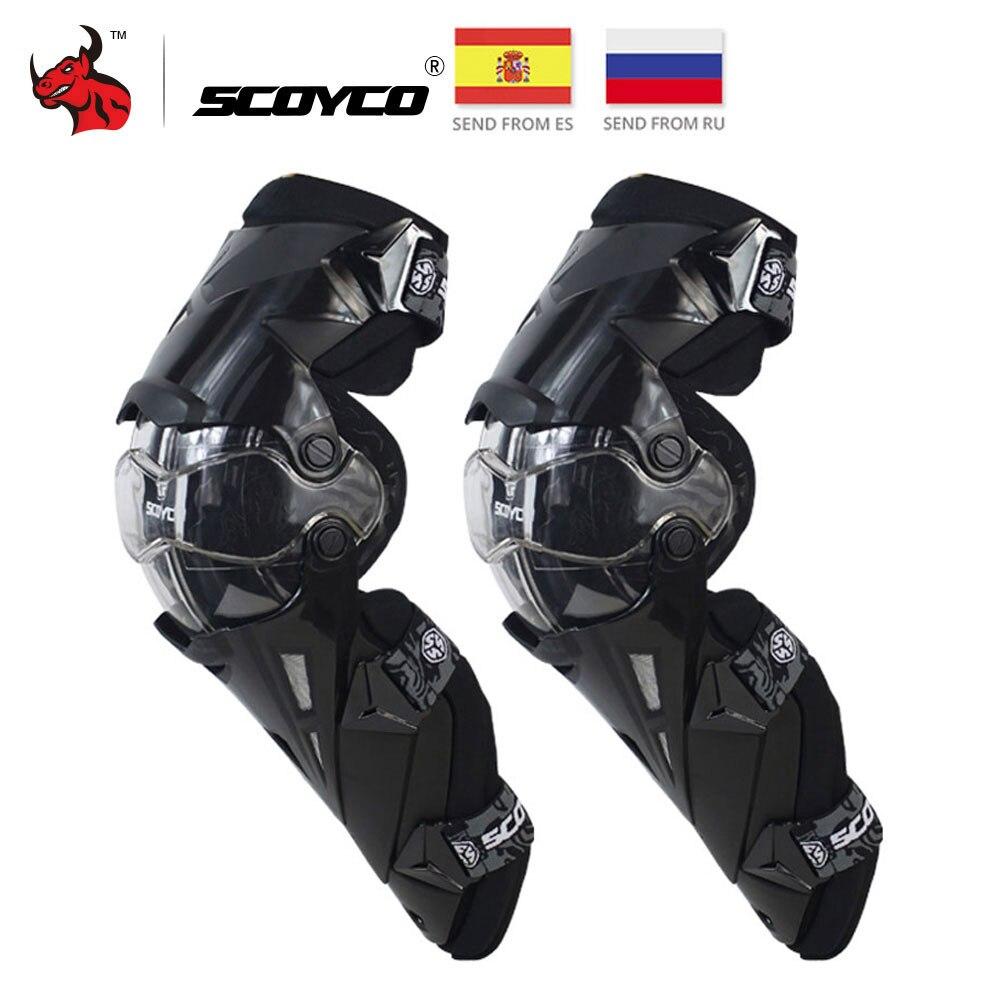 SCOYCO genouillères de moto CE Motocross genouillères Protection de moto genouillère gardes de course engrenages de sécurité orthèse de course