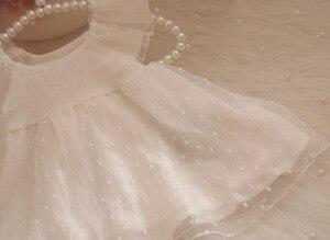 1 комплект, платье принцессы с юбкой-пачкой для маленьких девочек + повязка на голову + носки + обувь, милое платье для крещения, крещения, дня ...