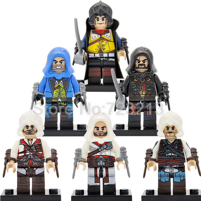 Single Sale Assa Creed Dorian Kenway Firenze Cormac Figure Assassin Building Blocks Sets Models Toys For Children Legoing