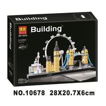 ארכיטקטורת בניין סט לונדון ביג בן מגדל גשר דגם אבן בניין צעצועי תואם עם Lepining עיר