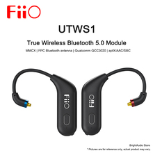 Fiio UTWS1 True Wireless Bluetooth Module Detachable earhook for FH7/FA7/F9 pro MMCX/0.78mm Earphone aptX/AAC/SBC MIC waterproof