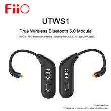 Fiio UTWS1 auricular desmontable, inalámbrico verdadero módulo con Bluetooth para auriculares FH7/FA7/F9 pro MMCX/0,78mm aptX/AAC/SBC con micrófono, resistente al agua