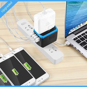 Image 5 - Evrensel güç seyahat adaptörü dünya çapında uluslararası güç adaptörü akıllı 2.4A 4 USB şarj aleti avrupa İngiltere abd dönüştürücü fiş