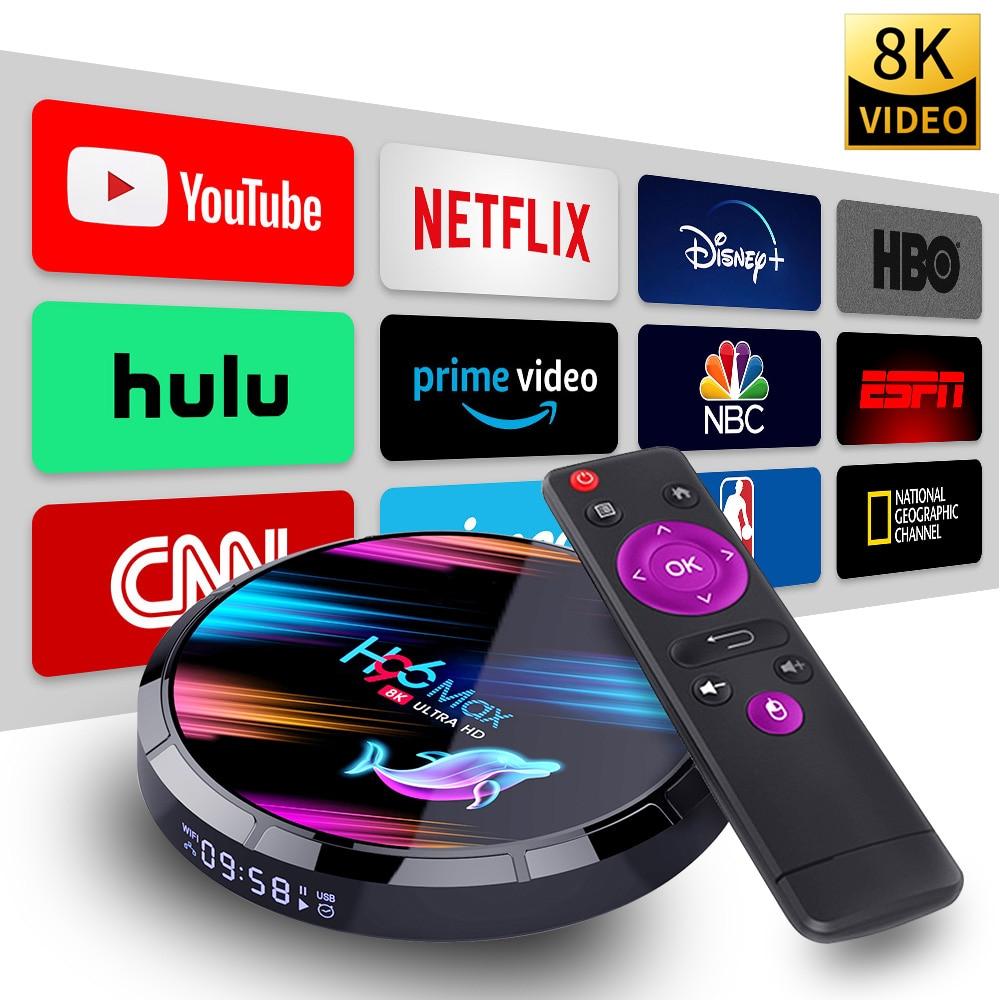 8K Smart TV Box Android 9.0 9 Amlogic S905X3 4GB 128GB USB 3.0 4K 60Hz Set Top Box 2.4G/5G Bluetooth Media Player TVBOX HDMI 2.1