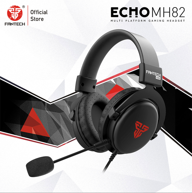 FANTECH MH82 3.5MM Plug Gaming Headphones Wired PC Stereo Earphones Headphones With Microphone For Profession Gamer FPS Game