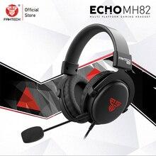 FANTECH MH82 3.5MM fiş oyun kulaklıkları kablolu PC Stereo kulaklık mikrofonlu kulaklıklar meslek oyun FPS oyunu