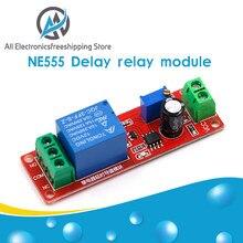 NE555 zamanlayıcı anahtarı ayarlanabilir modülü zaman geciktirme rölesi modülü DC 12V geciktirme rölesi kalkanı 0 ~ 10S