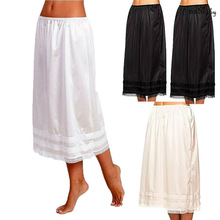 Womens Lace Underskirt Petticoat Under Dress Long Skirt Safety Skirt Oversize